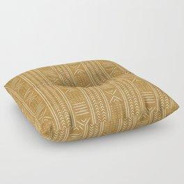 mustard mud cloth - arrow cross Floor Pillow
