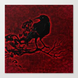 The Red Raven Canvas Print