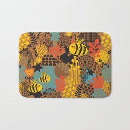 The bee. Bath Mat