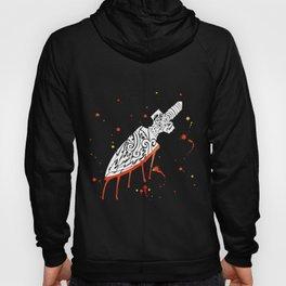 Watercolor Tribal Arrow [White Ink] Hoody