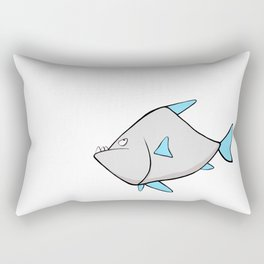 Scribble2Masterpiece - WARY PIRANHA fish! Rectangular Pillow