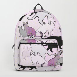 pastel cat pattern Backpack