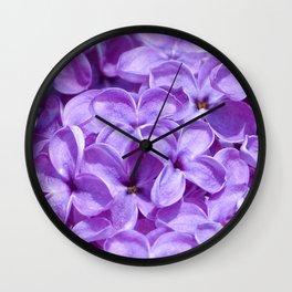 Purple Lilacs by Teresa Thompson Wall Clock
