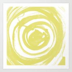 Swirl Ochre Art Print