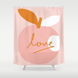 Abstraction_LOVE_BITE Shower Curtain