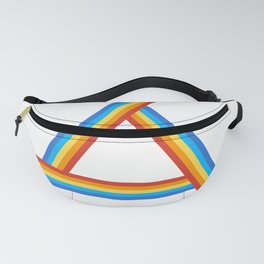 Rainbow Triangle Light Fanny Pack