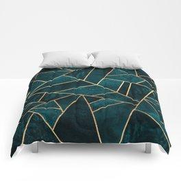 Deep Teal Stone Comforters