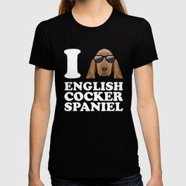 I Love English Cocker Spaniel modern v2 T-shirt