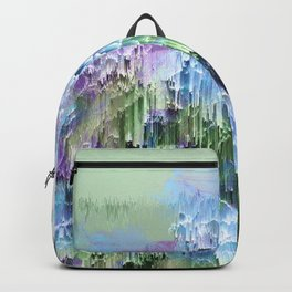 Wild Nature Glitch - Blue, Green, Ultra Violet #nature #homedecor Backpack