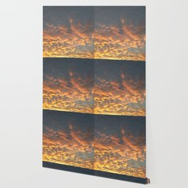 Blazing sunset Wallpaper