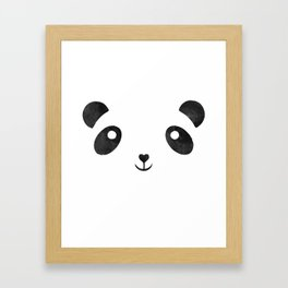 Panda, black and white panda face Framed Art Print