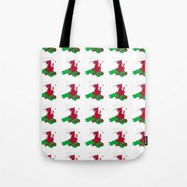 Flag of Wales 2 ,uk,great britain,dragon,cymru, welsh,celtic,cymry,cardiff,new port Tote Bag