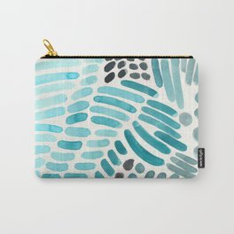 Frozen Blue winter Colours Cold Watercolor Natural pattern geometric Snow Shapes Carry-All Pouch