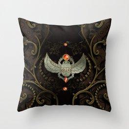 Wonderful decorative scarab Throw Pillow