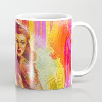 "tatoo Mugs featuring "" Miss tatoo ""  by shiva camille"