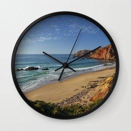 Amado beach, Portugal Wall Clock