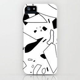 minimal black and white / line art iPhone Case