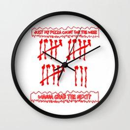 Pizzas just this week Wall Clock