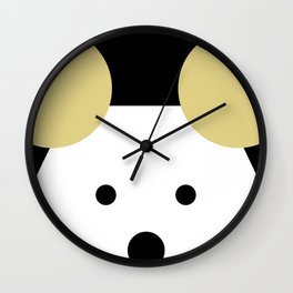 Peek-a-Boo Mouse with Gold Ears Wall Clock