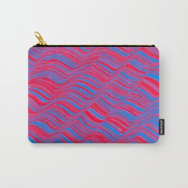 undulations in red and blue Carry-All Pouch