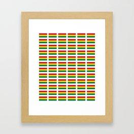 flag of bolivia 2 -bolivian,boliviano,bolivian,Sucre, La Paz. Framed Art Print