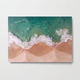 Pearl Beach top down. Metal Print