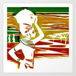 Black Woman9 Art Print