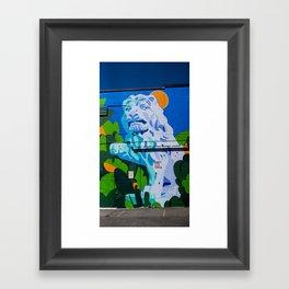 Lion - Street Art - Vancouver Framed Art Print