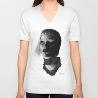 versace V-neck T-shirts featuring Versace InSanity. by BrittanyJanet Illustration & Photography