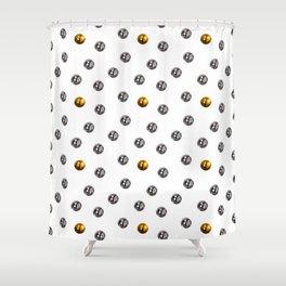 Pachinko Balls Japanese Gambling Game Design Pattern Shower Curtain