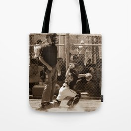 Hold Him Off Tote Bag