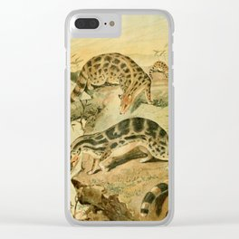 Royal Natural History 1893-1896 - REH (Linsangs) Clear iPhone Case