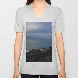 The Atlantic Ocean and Clouds in the Sky Unisex V-Neck