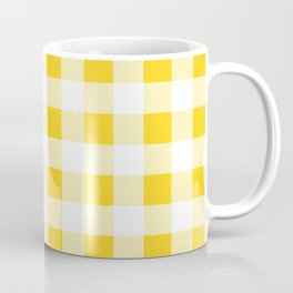 Yellow and White Buffalo Check Coffee Mug