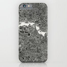 London map print iPhone Case