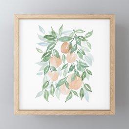Peach Tree Framed Mini Art Print