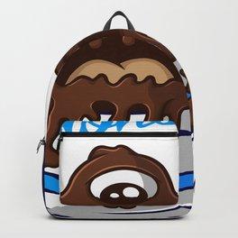 Coffee Monster Blue Backpack
