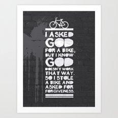 God forgives Art Print