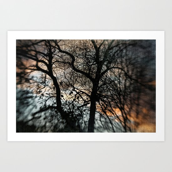 Bleak Winter Sunset Art Print
