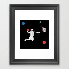 NBA Space 1 Framed Art Print