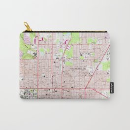 Vintage Map of Gainesville Florida (1966) Carry-All Pouch