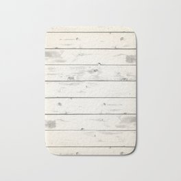Light Natural Wood Texture Bath Mat