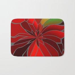 Abstract Poinsettia Bath Mat