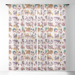 Duck and Duckling Sheer Curtain
