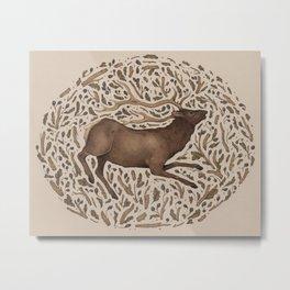 Elk in Nature Metal Print