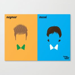 Neymar x Messi Canvas Print