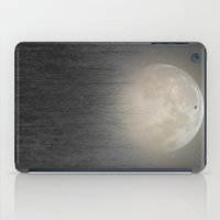 birch iPad Cases featuring The Moon Shines Bright (Birch Moon II) by soaring anchor designs