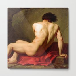 "Jacques-Louis David ""Patroclus"" Metal Print"
