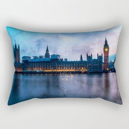 westminster-big-ben-w-england Rectangular Pillow