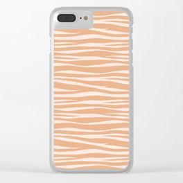Zebra Print - Toffee Caramel Clear iPhone Case